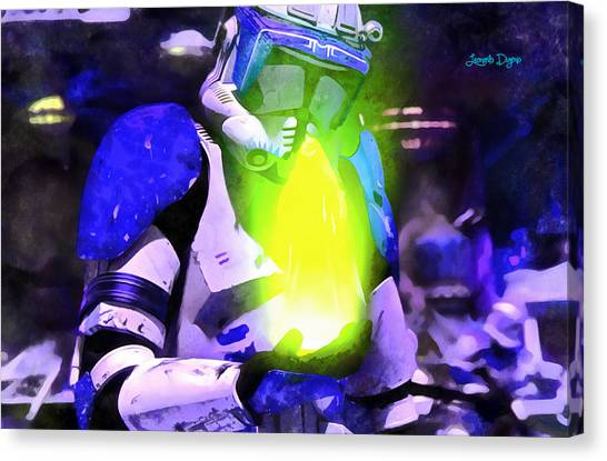 Leia Organa Canvas Print - Execute Order 66 Blue Team Commander  - Acrylic Style -  - Da by Leonardo Digenio
