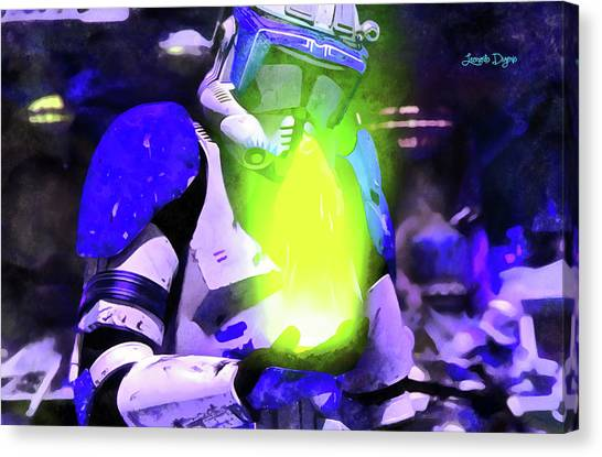 Leia Organa Canvas Print - Execute Order 66 Blue Team Commander - Acrylic Style by Leonardo Digenio
