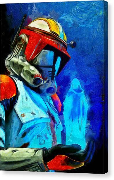 Leia Organa Canvas Print - Execute Order 66 Remake - Da by Leonardo Digenio