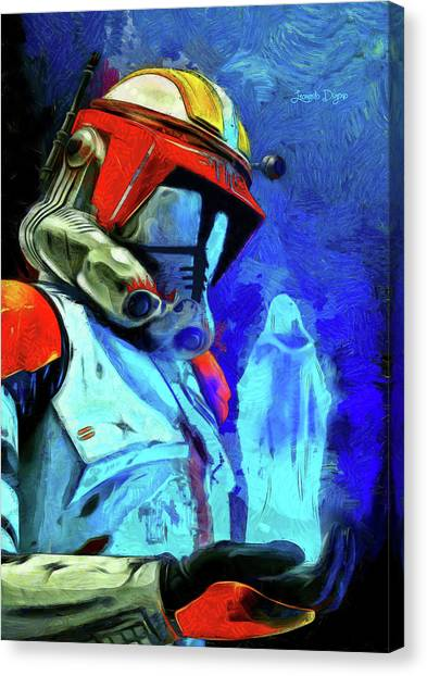 Leia Organa Canvas Print - Execute Order 66 Remake by Leonardo Digenio