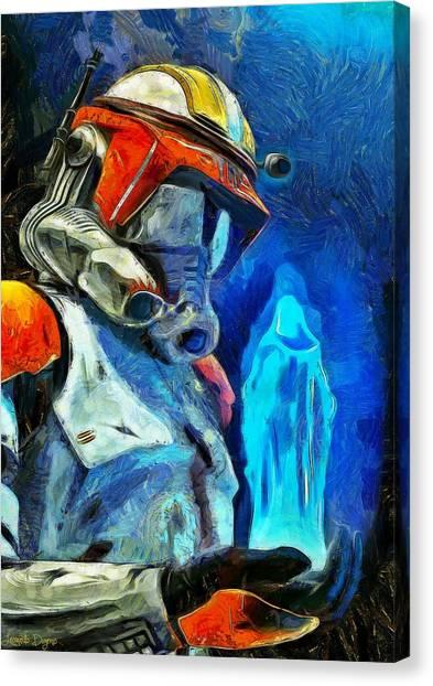 Leia Organa Canvas Print - Execute Order 66  - Van Gogh Style -  - Da by Leonardo Digenio