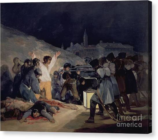 Citizen Canvas Print - Execution Of The Defenders Of Madrid by Goya