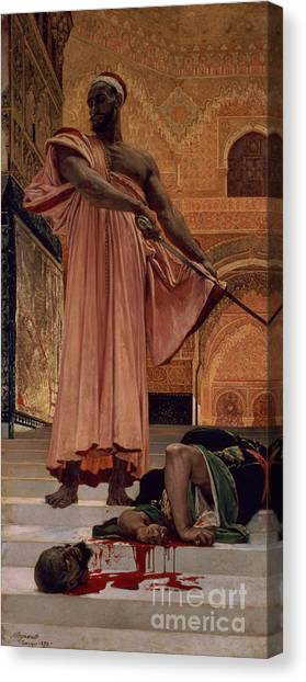 Moorish Canvas Print - Execution Without Trial Under The Moorish Kings In Granada by Henri Alexandre Georges Regnault