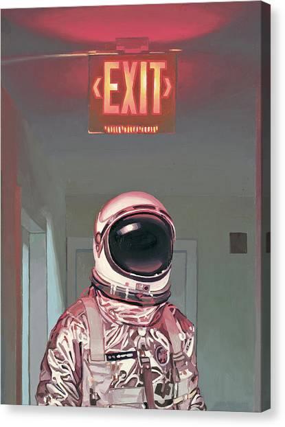 Science Fiction Canvas Print - Exit by Scott Listfield