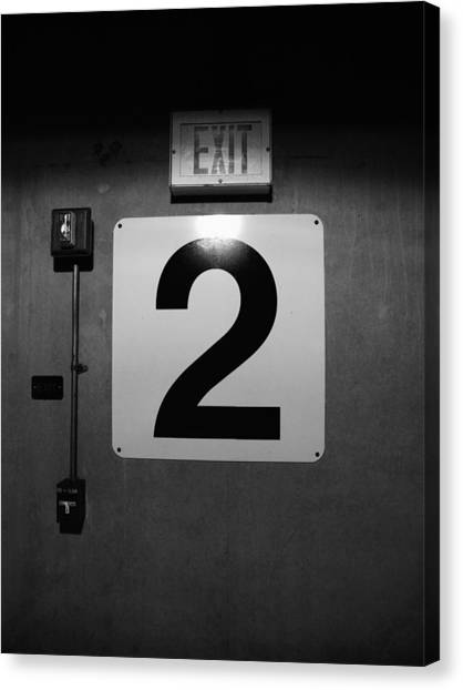 Death Canvas Print - Exit Two by Bob Orsillo