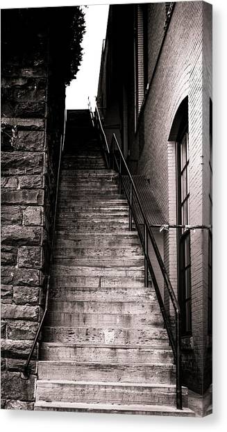 The Exorcist Canvas Print - Exorcist Steps by Jared Skarda