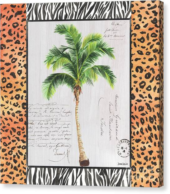 Cheetahs Canvas Print - Exotic Palms 1 by Debbie DeWitt