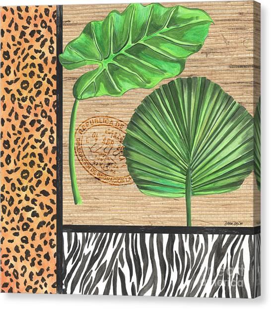 Tropical Plant Canvas Print - Exotic Palms 2 by Debbie DeWitt