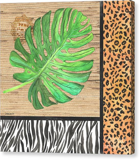 Peruvian Canvas Print - Exotic Palms 3 by Debbie DeWitt