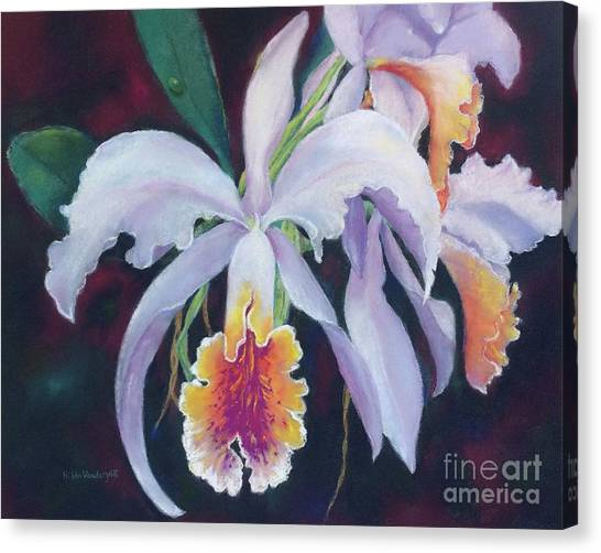 Exotic White Orchid Canvas Print
