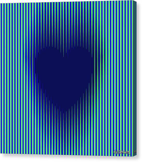 Expanding Heart 2 Canvas Print