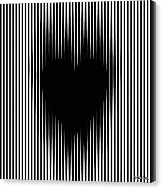 Expanding Heart Canvas Print