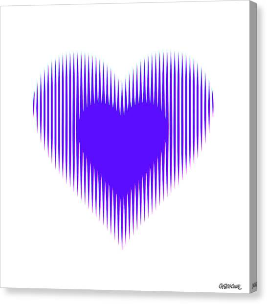 Expanding - Shrinking Heart Canvas Print