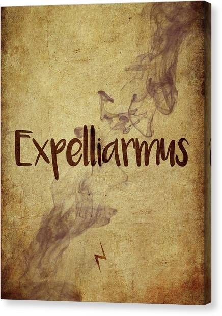 Wizard Canvas Print - Expelliarmus by Samuel Whitton