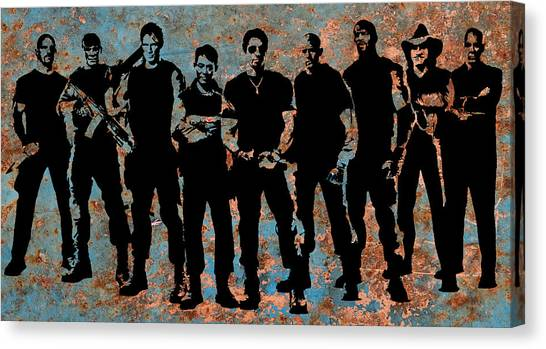Steve Austin Canvas Print - Expendables by Michael Bergman