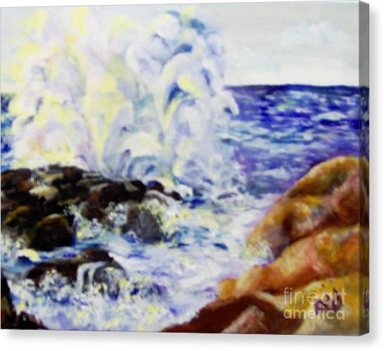 Canvas Print featuring the painting Explode by Saundra Johnson