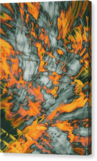 Exploded Fall Leaf Abstract Canvas Print