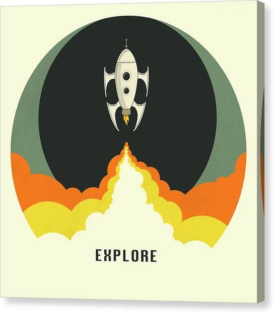 Space Ships Canvas Print - Explore Space by Jazzberry Blue