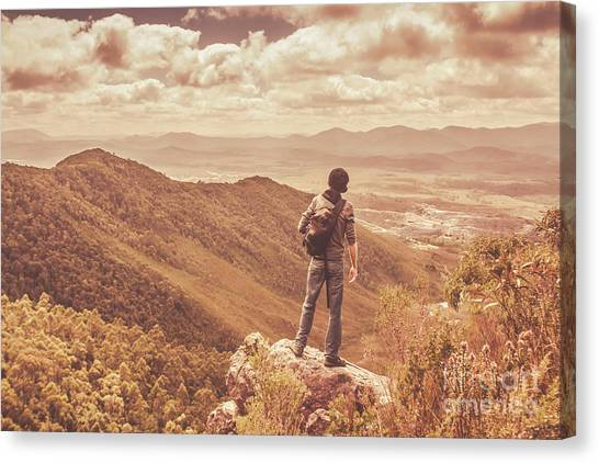 Backpacks Canvas Print - Exploring The Rugged West Coast Of Tasmania by Jorgo Photography - Wall Art Gallery