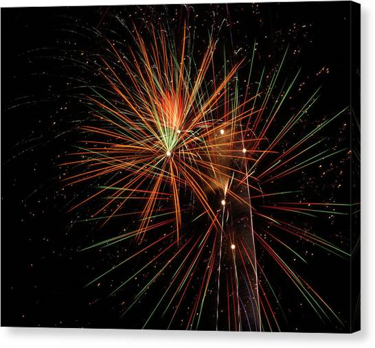 Canvas Print featuring the photograph Explosion by Broderick Delaney