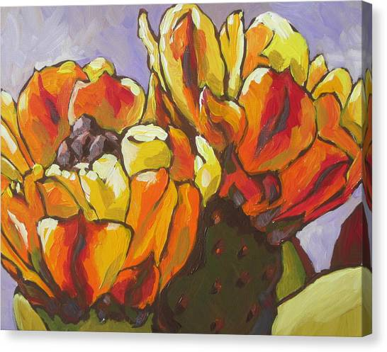 Sonoran Desert Canvas Print - Explosion Of Color by Sandy Tracey