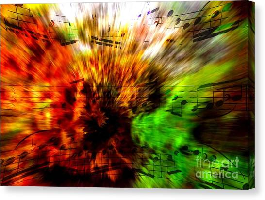 Explosive Exposition Canvas Print