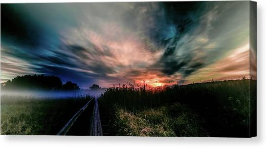Canvas Print featuring the photograph Explosive Morning #h0 by Leif Sohlman
