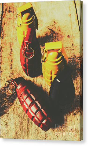 Grenades Canvas Print - Explosive Ordnance by Jorgo Photography - Wall Art Gallery