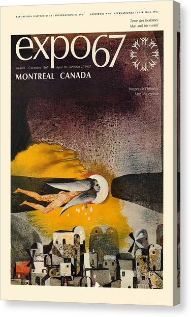 67 Canvas Print - Expo 67 by Andrew Fare
