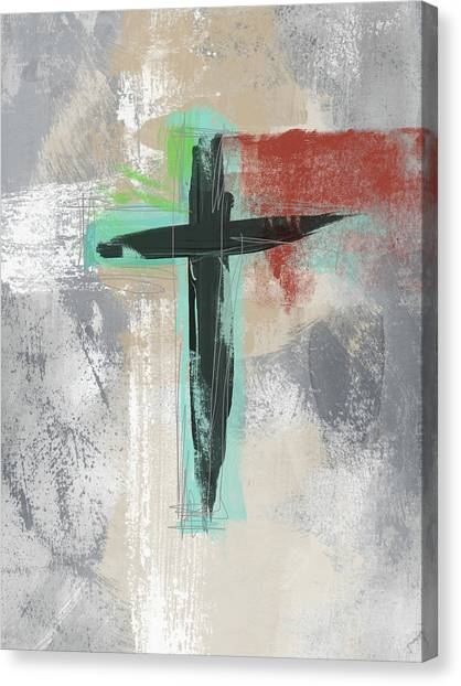 Religious Canvas Print - Expressionist Cross 3- Art By Linda Woods by Linda Woods