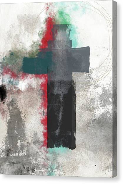 Religious Art Canvas Print - Expressionist Cross 4- Art By Linda Woods by Linda Woods