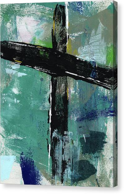Religious Canvas Print - Expressionist Cross 8- Art By Linda Woods by Linda Woods