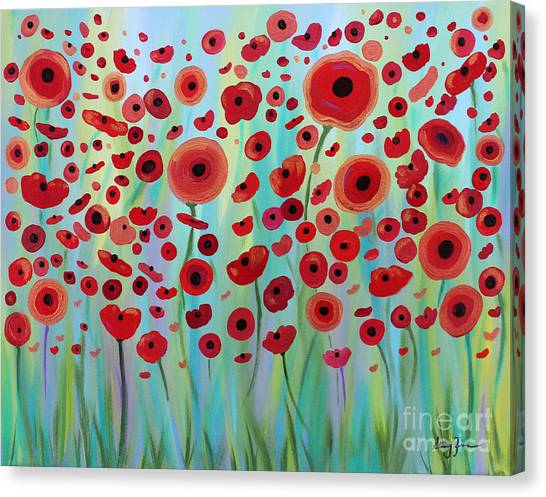 Expressive Poppies Canvas Print