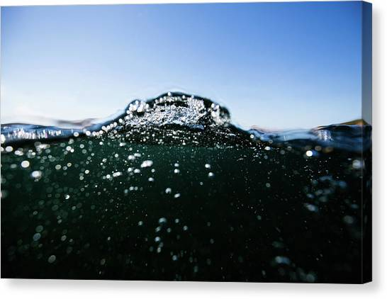 Expressive Water Canvas Print