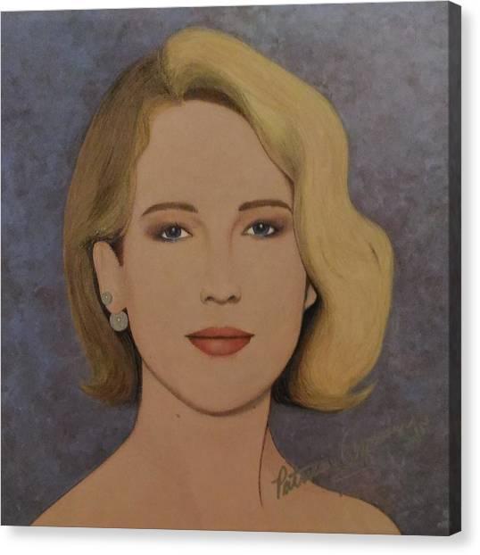 Exquisite - Jennifer Lawrence Canvas Print