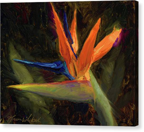 Extravagance - Tropical Bird Of Paradise Flower Canvas Print
