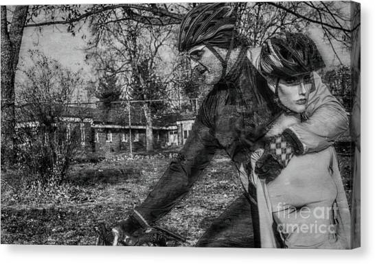 Extreme Cycling  Canvas Print by Steven Digman