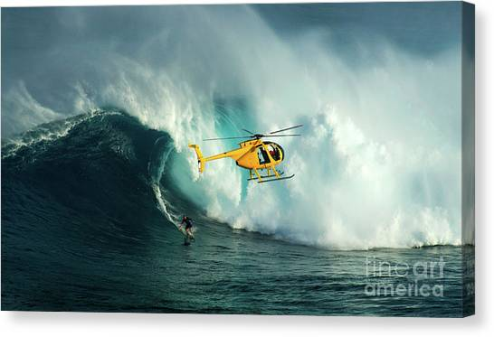 Extreme Surfing Hawaii 6 Canvas Print