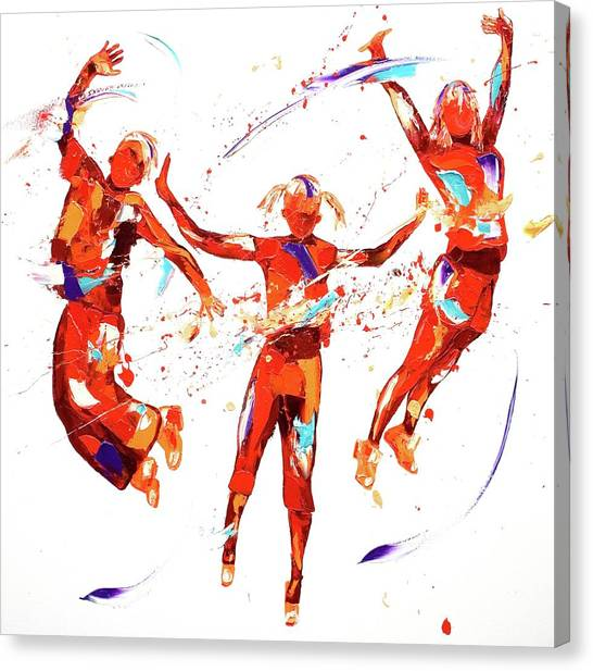 Trampoline Canvas Print - Exuberance by Penny Warden