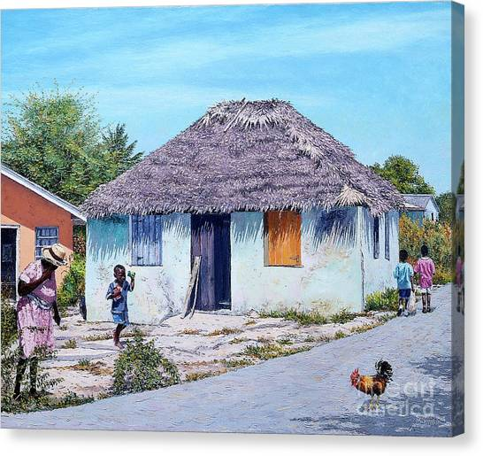 Exuma Thatch Hut Canvas Print