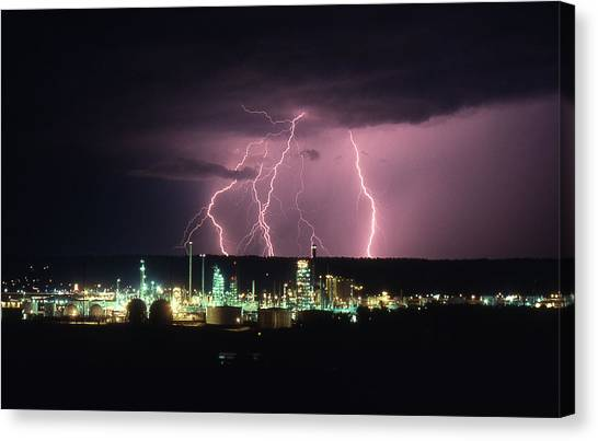 Exxon Lightning Canvas Print