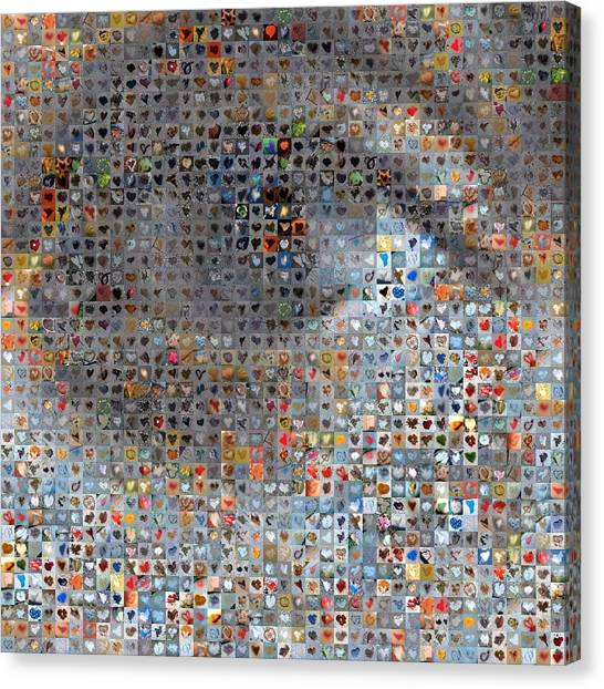 Mosaic Canvas Print - Eye 1  by Boy Sees Hearts