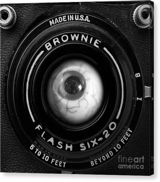 Canvas Print featuring the photograph Eye Am A Camera Surreal Photography by Edward Fielding