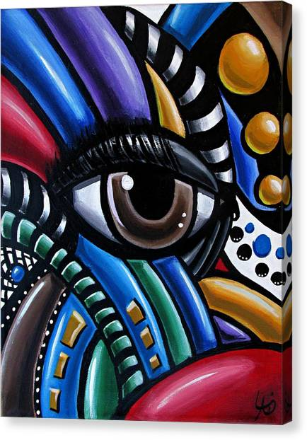 Eye Am - Abstract Art Painting - Intuitive Art - Ai P. Nilson Canvas Print