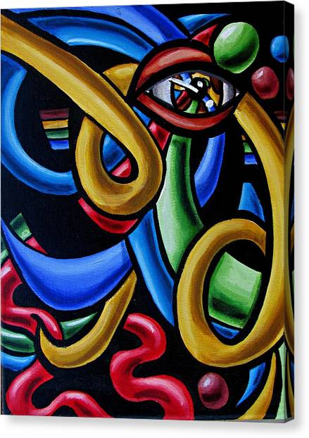 Eye Am The Prize - Chromatic Abstract Art Painting - Print - Ai P. Nilson Canvas Print