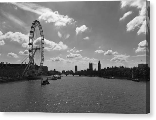Eye And Parliament Canvas Print