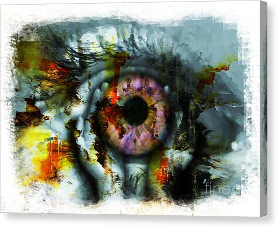Eye In Hands 001 Canvas Print