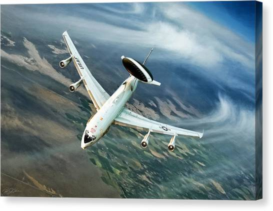 Cold War Canvas Print - Eye In The Sky by Peter Chilelli