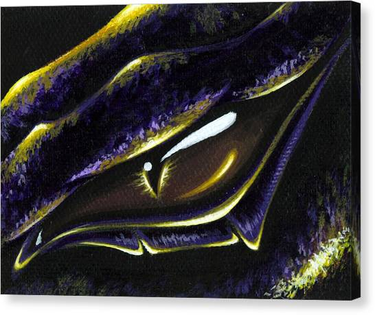Dragons Canvas Print - Eye Of Ametrine by Elaina  Wagner