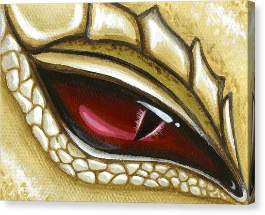 Dragon Canvas Print - Eye Of Gold Dust by Elaina  Wagner